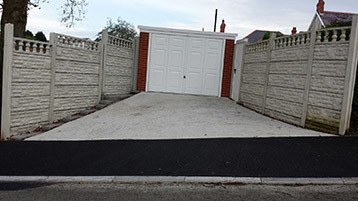 sectional fencing and garage